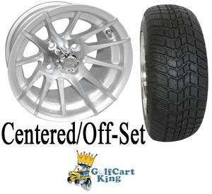 RX103 Low Profile Golf Cart 12 Wheel and Tire Combo