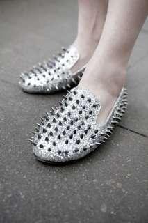 New Fashion Women Spike Punk Studded rivet Loafer flat shoes many