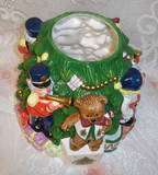 Spode Porcelain Hand Painted Christmas Tree Cookie Jar