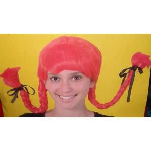 Country Wig Red Pigtails Costume Womens Toys & Games