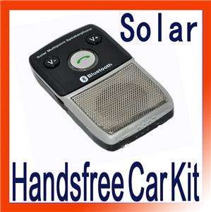 Solar power bluetooth Handsfree car kit for HTC Iphone