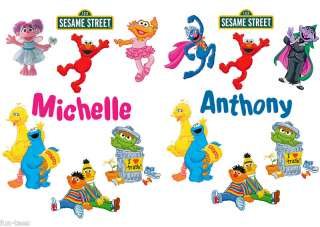 Personalized Sesame Street Adult Size Color T Shirts