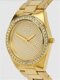 NEW GUESS WOMEN WATCH GOLD TONE BRACELET, U11055L1