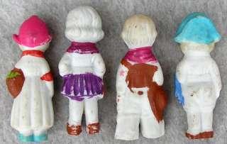 Bisque Dolls Dutch Boy & Girl Cowboy & Girl Small