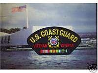 Coast Guard Vietnam Veteran Black Patch 3 x 4Patch