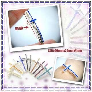 Ways Crystal Rhinestones Cross Bracelet Connector Charm Bead