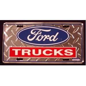 Ford Truck metal license plate 6 x 12 diamond embossed