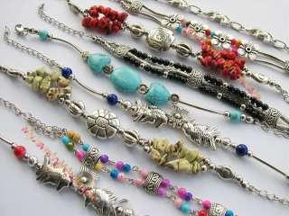 jewelry lots 20 piece vintage style Tibetan silver bracelets