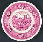 Adams ENGLISH SCENIC PINK OLDER Salad Plate