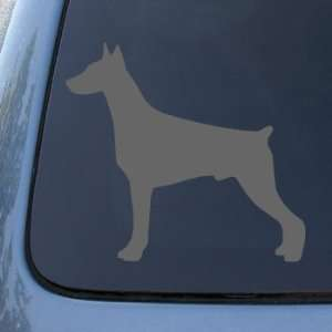 DOBERMAN SILHOUETTE   Dog   Vinyl Decal Sticker #1508  Vinyl Color