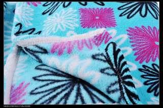 NWT soft printed cozy comfy plush fleece sherpa mink throw blanket