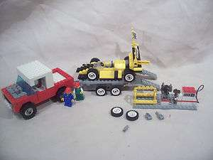 Lego Truck Trailer Race Car and Pit Area |