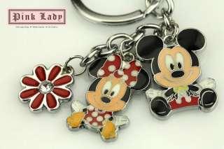 Z374 Cute Minnie & Mickey Mouse Charms Pendants Keychain