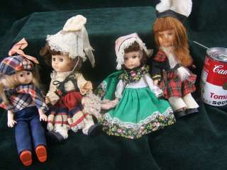 Four Vintage Small TRADITIONAL EUROPEAN TRADITIONAL DRESS Dolls