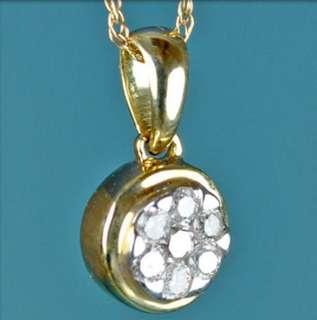GENUINE DIAMOND 14K GOLD STYLISH FLOWER PENDANT