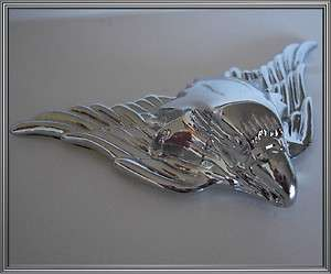 Sm Show Chrome War Eagle Metal Custom Emblem   Hotrod Car Truck Hood
