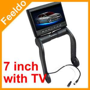 Black Car Central Armrest TFT LCD Monitor with TV