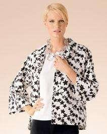 New Womens SUTTON STUDIO Floral Open Front Jacket 1X