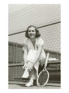 Woman Tennis Player Adjusting Stocking Print at AllPosters
