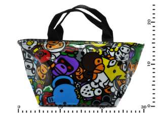 30x24cm Lovely Cartoon Lunch Bag Black Tote Purse Gift