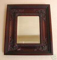 RECTANGULAR WOODEN FRAMED WALL MIRROR 2701K