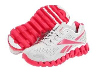 Reebok Womens Zig Flow Running Shoes Suede Steel Heroine Pink White