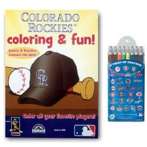 MLB Coloring Book Two Pack with Twist Crayons