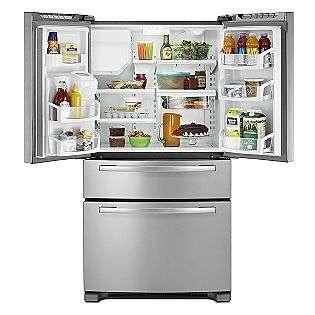 25 cu. ft. 4 Door French Door Refrigerator   Stainless Steel