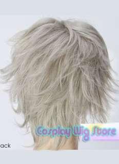 Fashion Anime Cosplay Short Grey Skin Top Hair Wig A368