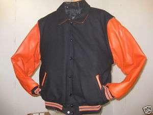 RENNOC  OFFICIAL VARSITY JACKET Black/Orange  $250.00
