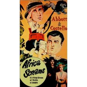 : Africa Screams [VHS]: Bud Abbott, Lou Costello, Clyde Beatty, Frank