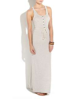 Biscuit (Stone ) Grey Stripe Maxi Dress  255468215  New Look