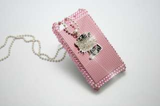 Pink Hello Kitty Rhinestone Case Cover for iPhone 4 4s