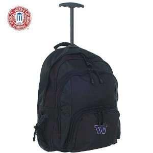 Mercury Luggage Washington Huskies Black Wheeled Backpack
