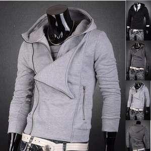 3mu Mens Designer Hoodies Zip Slim Fit Jacket Tops Coats Shirts S M L