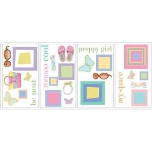 Preppy Girl Peel & Stick Wall Decals Toys & Games