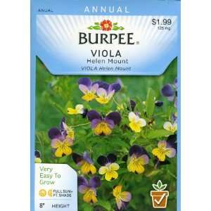 Burpee 21687 Viola Helen Mount Seed Packet Patio, Lawn