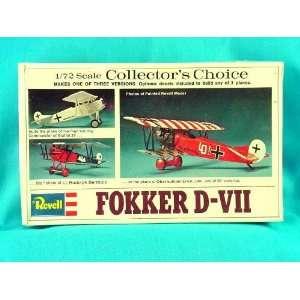 Revell Fokker D VII 1/72 Scale Model Kit #H 71 MIB Make Toys & Games