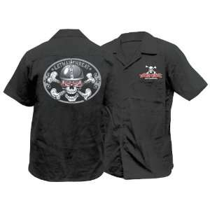 Lethal Threat Spiked Helmet Skull Work Shirt, Size: Lg