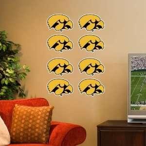 Iowa Hawkeyes 8 Pack Team Logo Decals: Sports & Outdoors