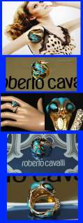 365 ROBERTO CAVALLI Ladies COBRA SNAKE CRYSTALS RING