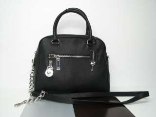 MICHAEL KORS*KNOX*JOAN SATCHEL*BLACK*GENUINE LEATHER*LOGO LOCK*NWT