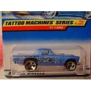 64 Scale Tattoo Machines Series Blue 1957 T Bird Die Cast Car 1/4