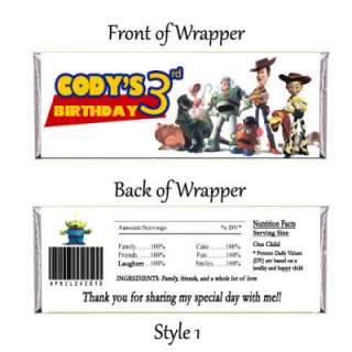 Toy Story Personalized Candy Bar Wrapper Digital File