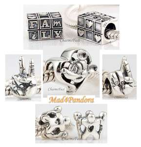 925 Sterling Silver European Bead Charm Misc Group 4