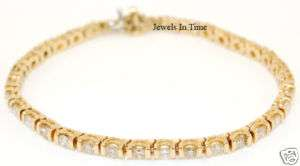 Ladies Tennis Bracelet 14k Gold and Diamond 4.20 CT