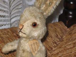 Antique Steiff US ZONE Niki Hase Rabbit 5314 Mohair IDS 1952 1953 Only