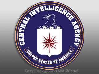 CIA Seal Sticker   round window decal stickers logo us