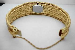 HAMILTON 18K GOLD ESTATE LADIES DIAMOND WATCH 1950s