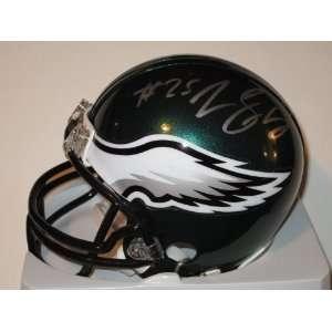 Lesean Mccoy Philadelphia Eagles Signed Autographed Mini Helmet Coa